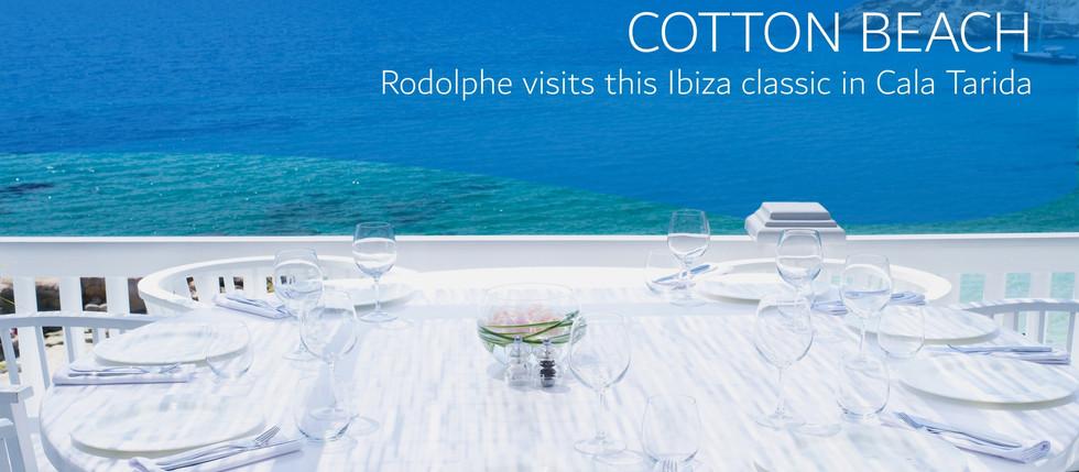 Cotton Beach Restaurant in Cala Tarida Ibiza