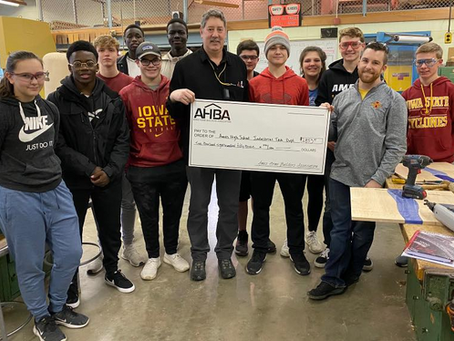 AHBA Supports AHS Industrial Tech Department