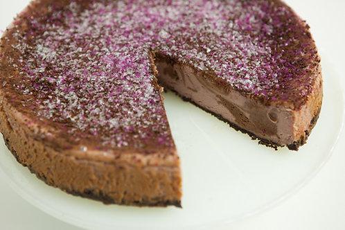 Chocolate Raspberry Swirl Cheesecake