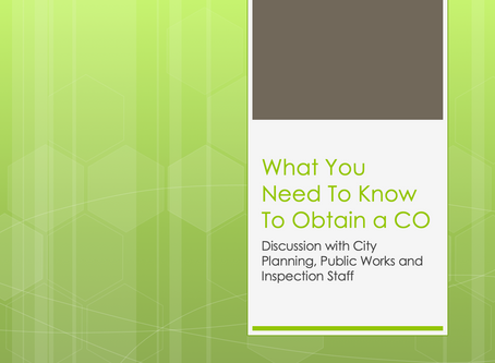 "Recap of ""What You Need to Know to Obtain a CO"""