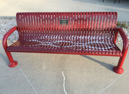 AHBA Donates Bench in Memory of Furmans