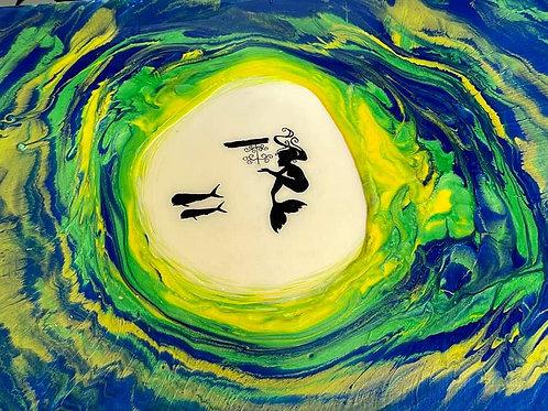Epoxy Resin Mahi Mermaid Painting