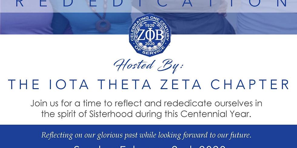 Zeta Phi Beta Sorority, Inc. Rededication