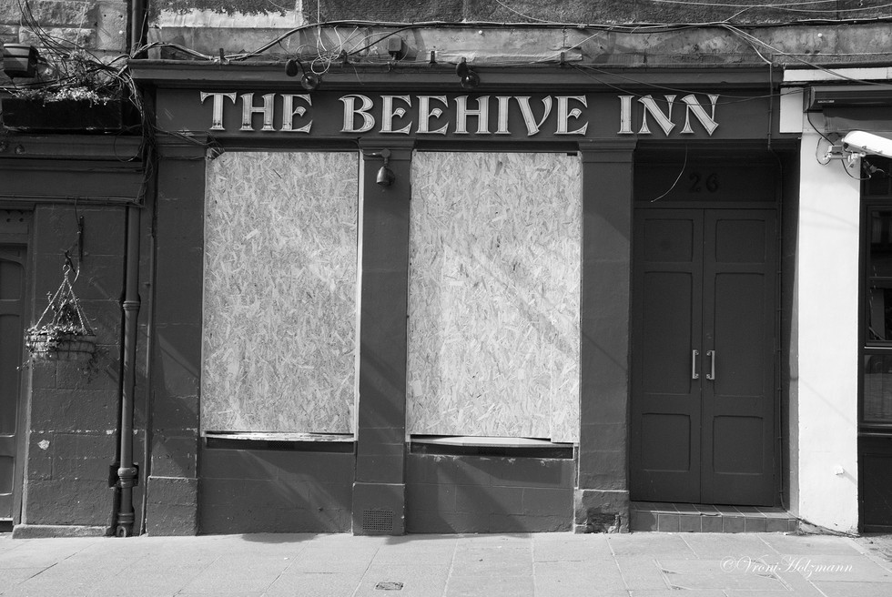 The Beehive Inn is Boarded Up