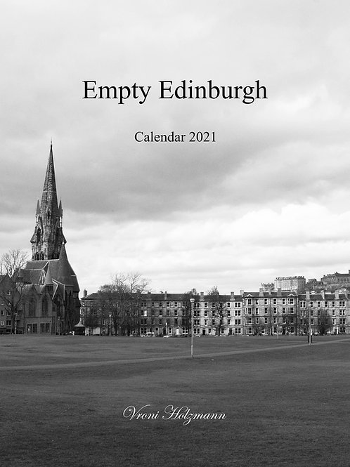 Empty Edinburgh - 2021 Calendar - A4