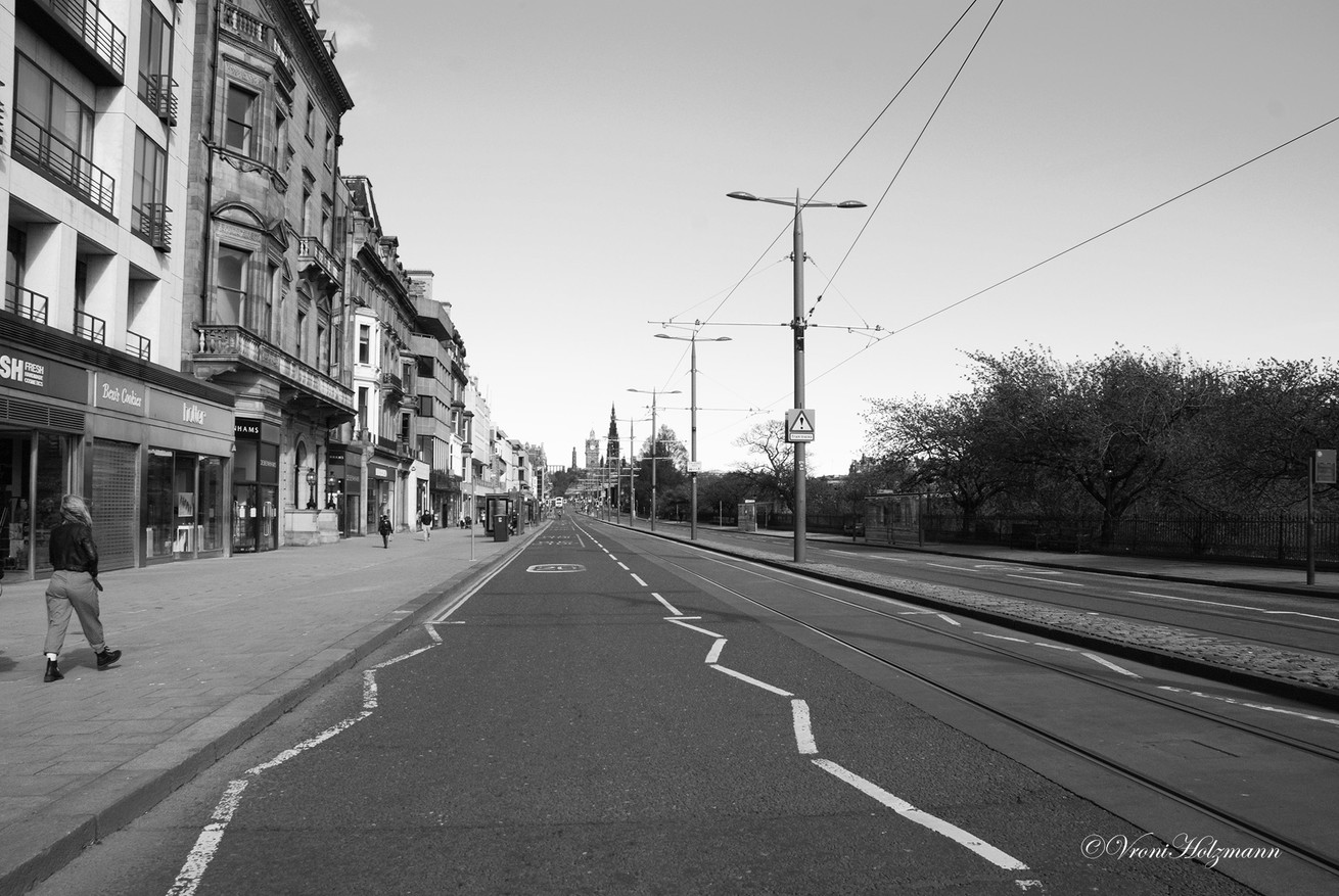 Princes Street West End is Empty