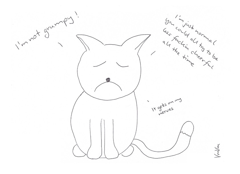 Not grumpy