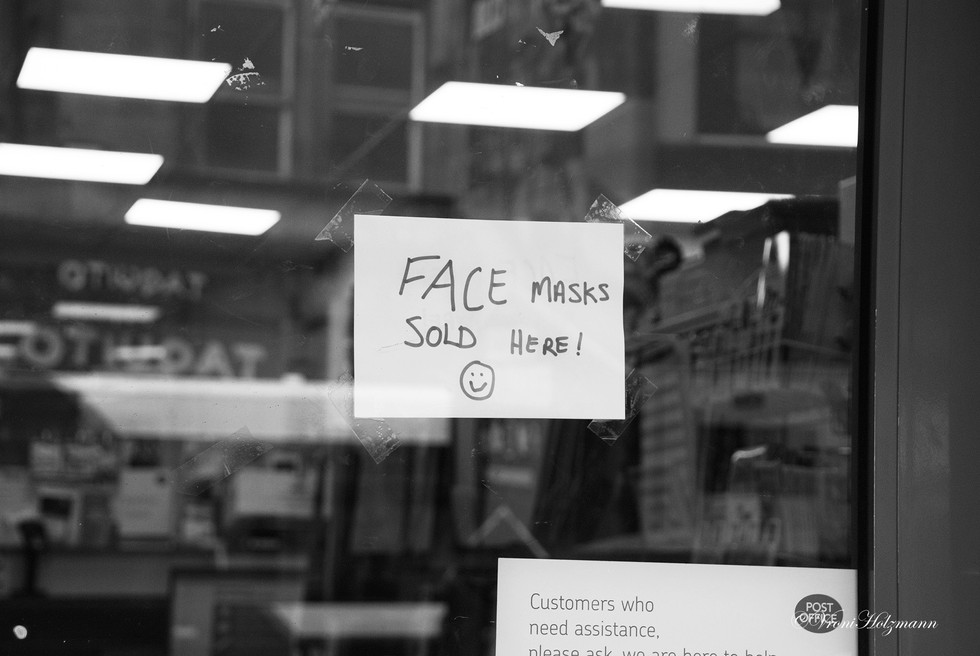 Facemasks are Sold Here