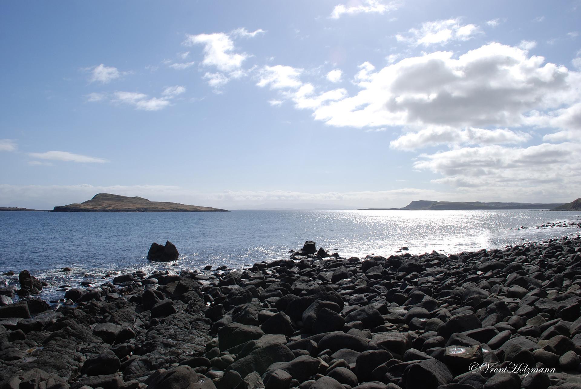 Stoney beach in the Hebrides
