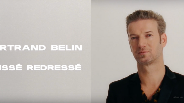 'Glissé Redressé' Bertrand Belin