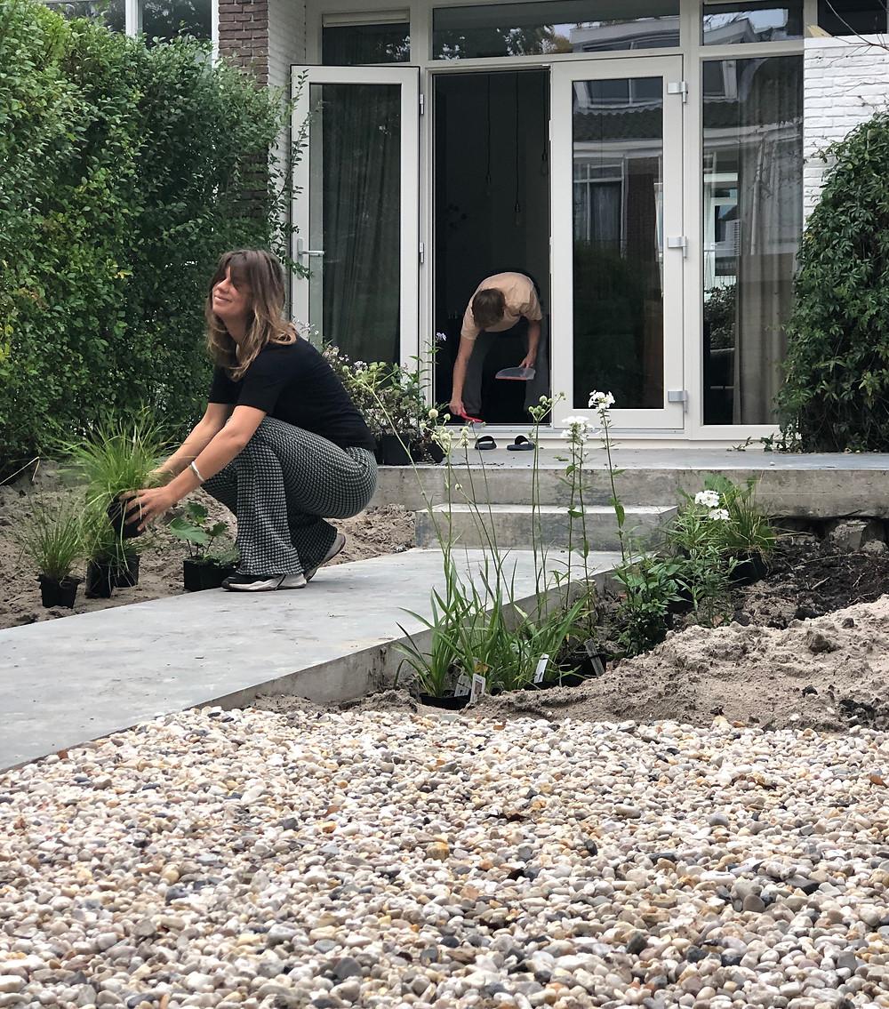 De ecologische tuin door studio Linda Lavoir, tuinontwerp in Rotterdam