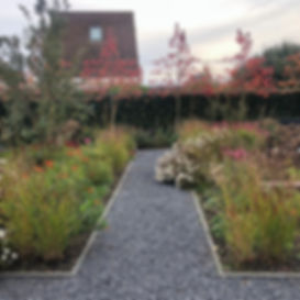 Tuinarchitect Rotterdam, Dit is eentuinwaarde hele familie heerlijk kan genieten van drie seizoenen bloeiende vaste planten en siergrassen. Verschillende terrassen verdeeld over de tuin kijken uit op op de bloemen, vlinders, bijen en vogels die zorgen voor een unieke beleving in de tuin.