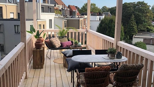 ontwerp balkon tuinarchitect rotterdam, studio linda lavoir, tuinarchitect regio zeeland, ontwerp van een tuinarchitect voor een balkon, dakterras