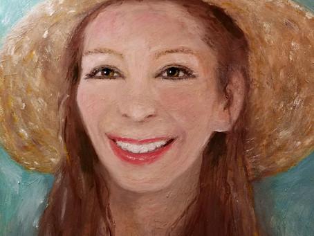 Smile under Hat. She...