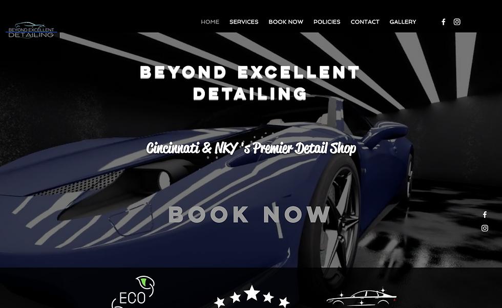 beyond excellent auto detailing website image