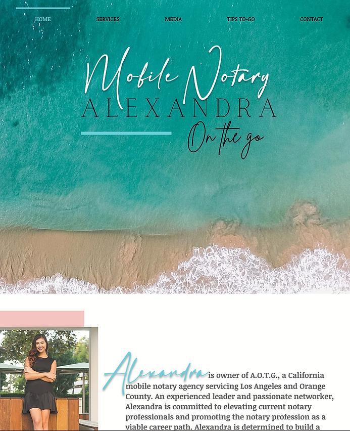 alexandra on the go website image