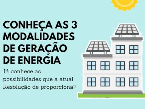Conheça as 3 Modalidades de Geração de Energia Solar Fotovoltaica