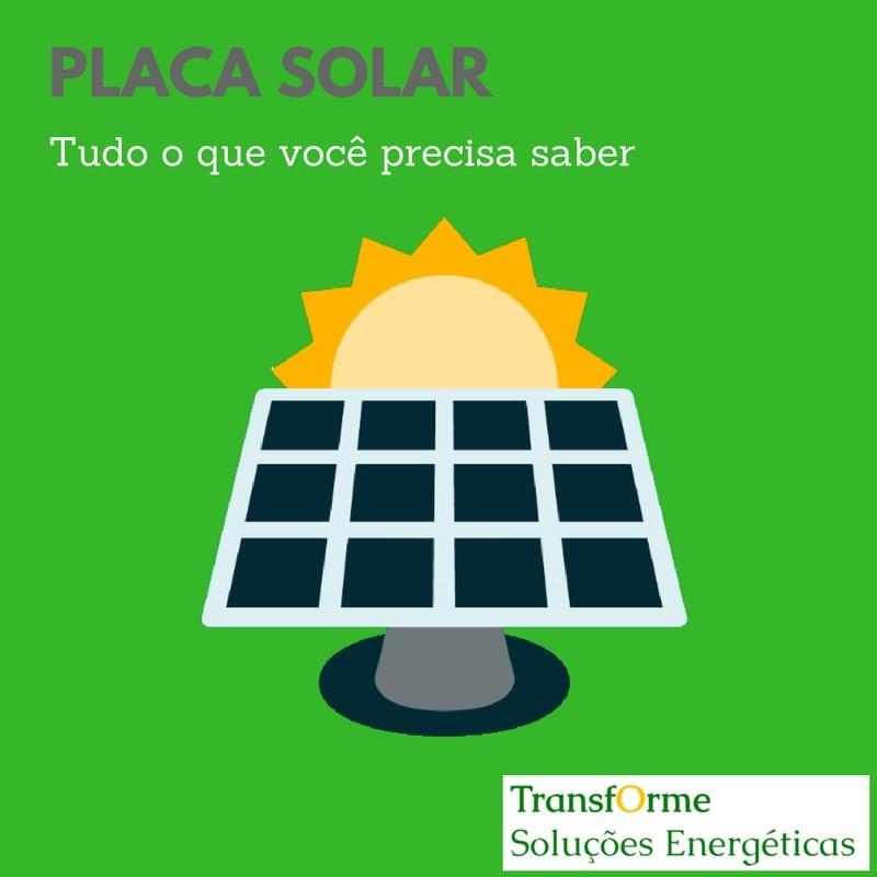 Placa solar transforme soluções energéticas