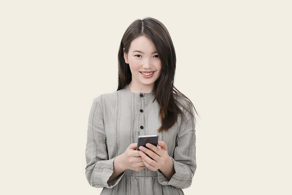 Asian nurse smiling