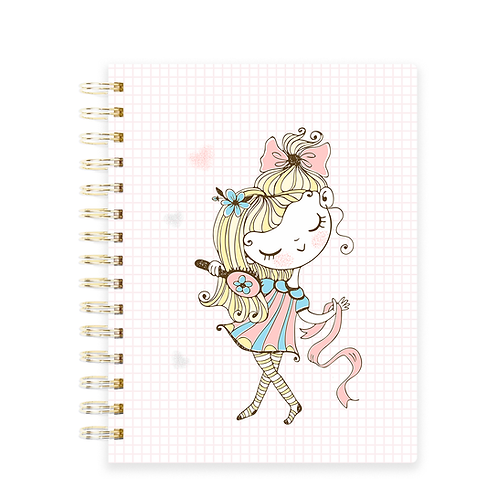 Miolo Caderno Coisas de Menina - Licença Comercial