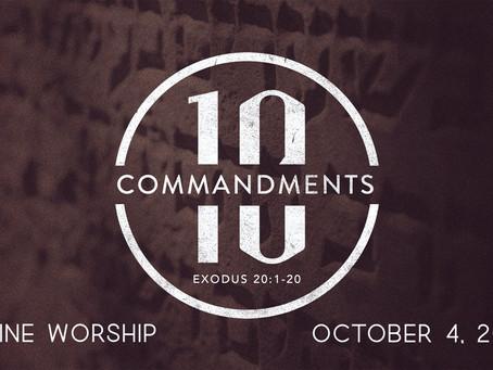 WORSHIP -- SUN. Oct. 4, 2020