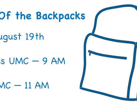 Blessing of the Backpacks Aug. 19