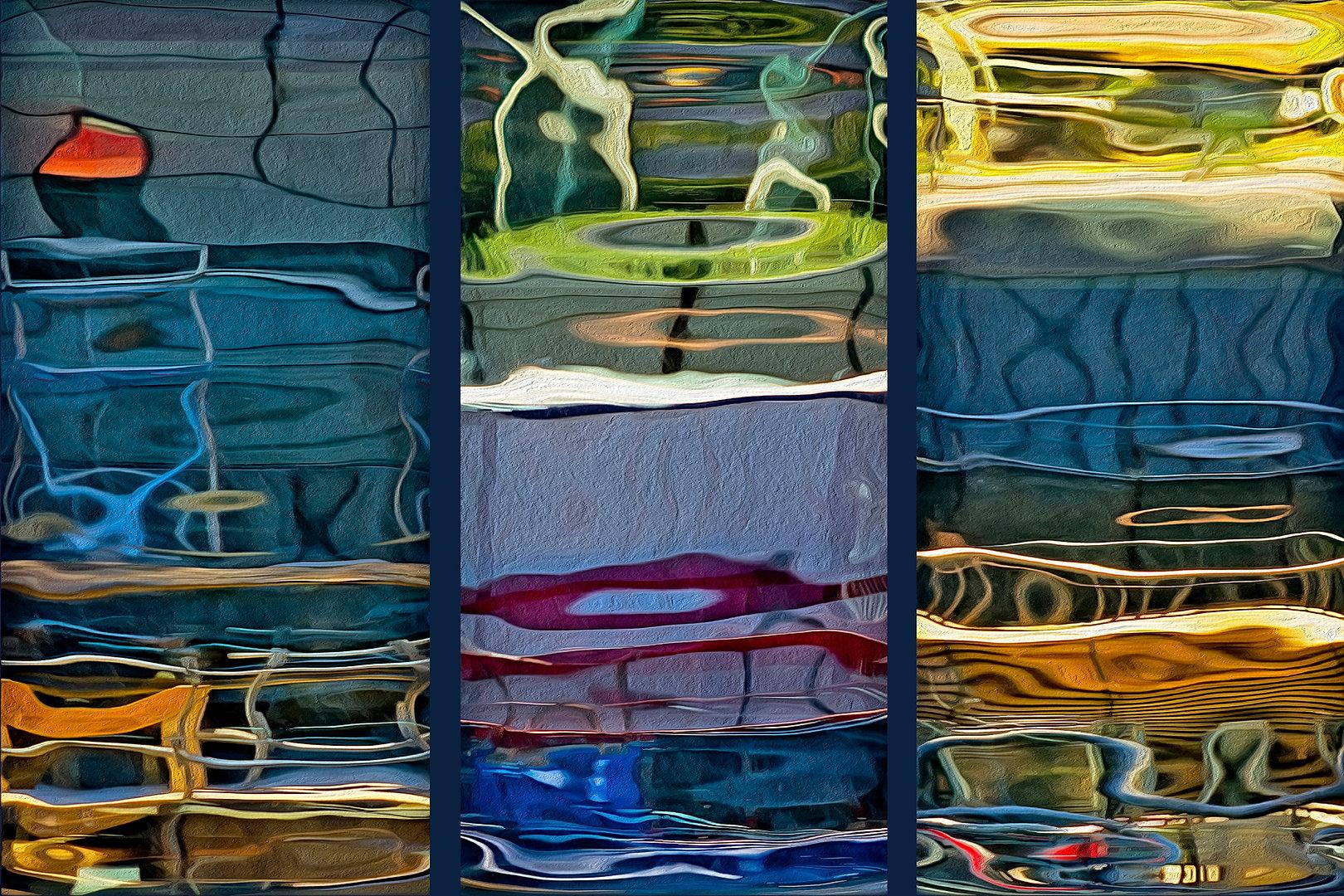 RÉFLEXION Nº 12 (triptych)  Large format fine art photograph by Denis Eugene Robert on TRAGART