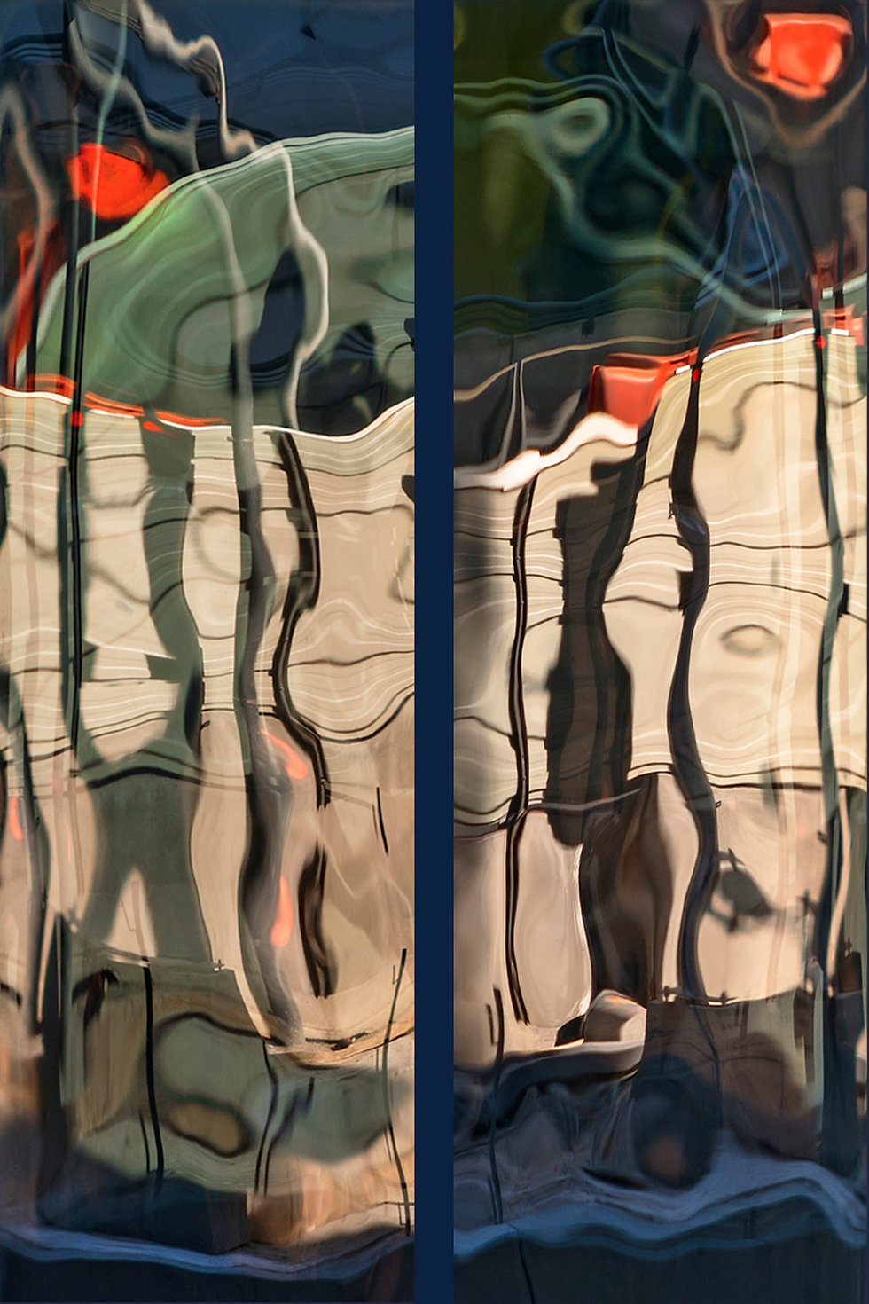 RÉFLEXION Nº 62 (diptych)  Large format fine art photograph by Denis Eugene Robert on TRAGART