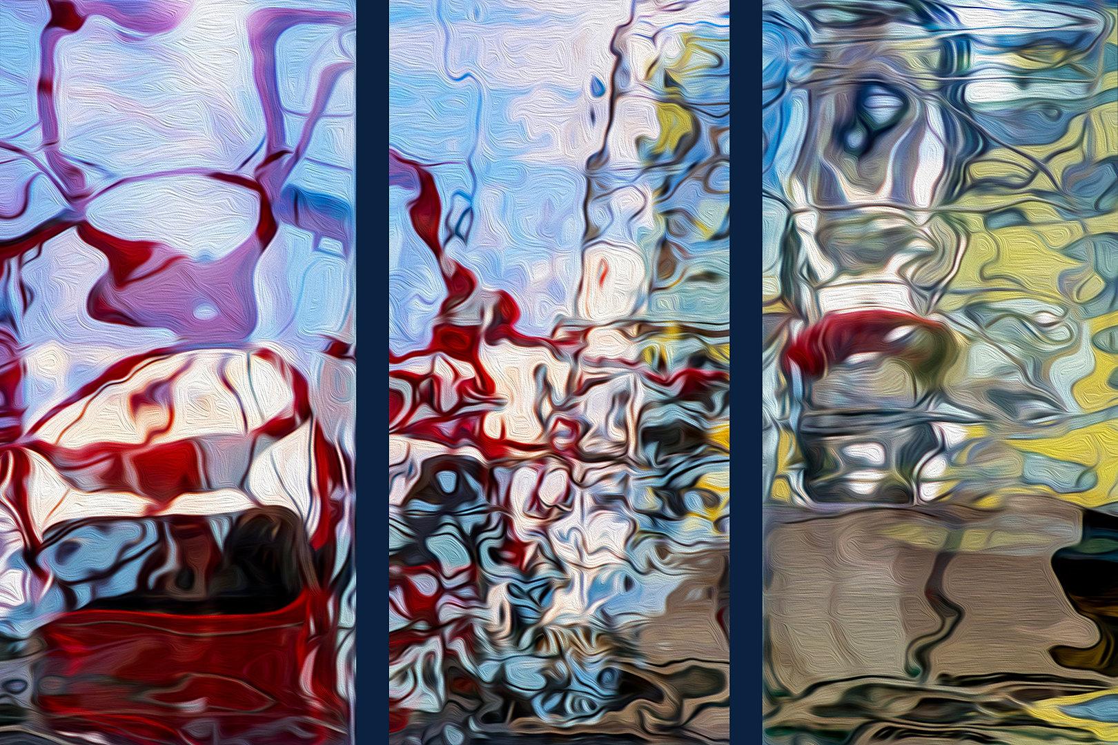 RÉFLEXION Nº 69 (triptyque)  Photographie d'art grand format par Denis Eugène Robert sur TRAGART