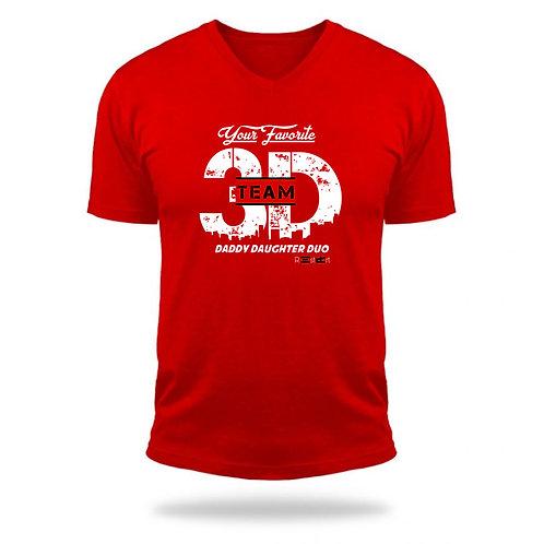 Red Team 3D logo tee