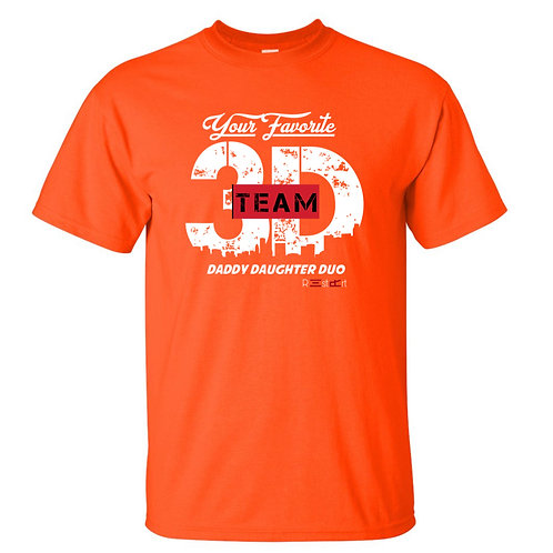 Orange/ White Team 3D Logo Tee