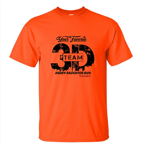 Orange/Black Team 3D Logo Tee