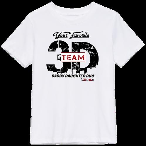White Team 3D Logo Tee