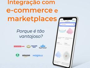 Integração entre seu sistema ERP e as plataformas de marketplace.