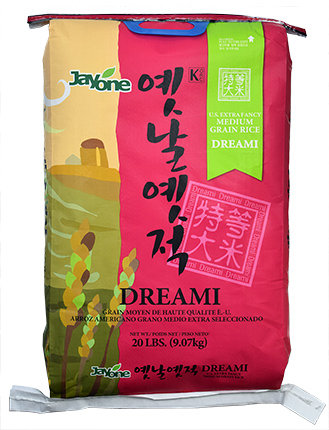 Dreami 20 LBS - US Extra Fance Medium Grain Rice