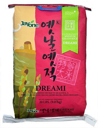 Dreami 20 LBS - US Extra Fance Medium Grain Rice