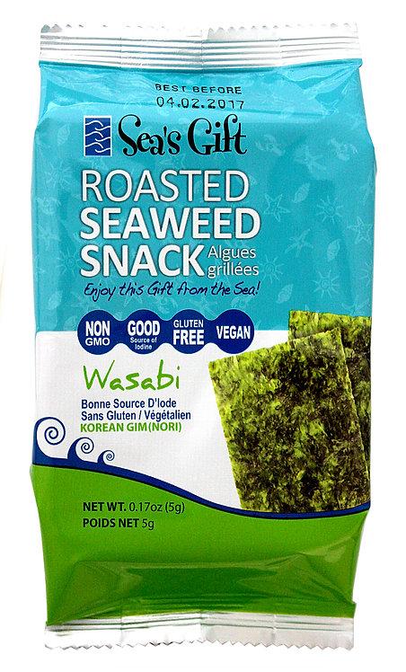 Roasted Seaweed Snack - Wasabi (24 pk)