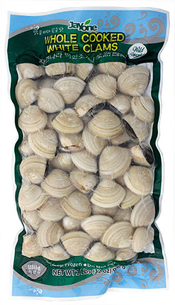 Frozen Whole Cooked White Clam-Wild Caught