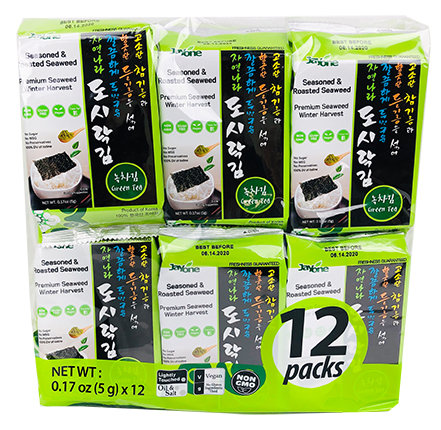 Jayone Roasted Seaweed Snack 12pk- Green Tea