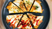 Shiitake Mushroom Kimchi Quesadilla