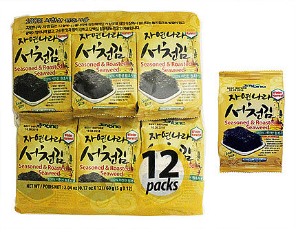 Seasoned & Roasted Seaweed Snack(SeoChun) 12 Pack