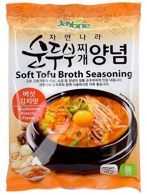 Jayone Tofu Broth Seasoning - Mushroom & Kimchi Flavor