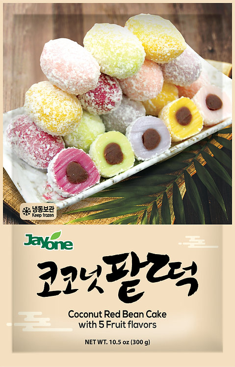 Coconut Red Bean Rice Cake-5 Fruits Flavored