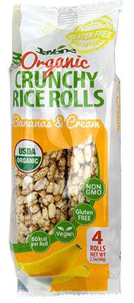 Organic Crunchy Rice Rolls - Banana & Cream