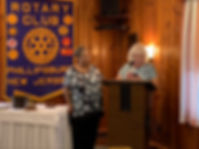 Induction of Gayle Rogers into the Phillipsburg Rotary by Audra Frankby