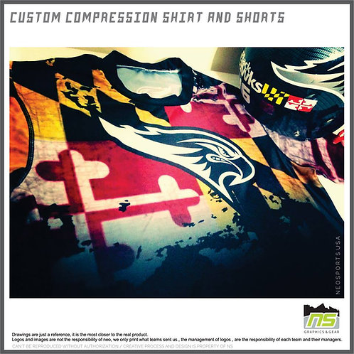 Customized Compression shirts (12 PCS)