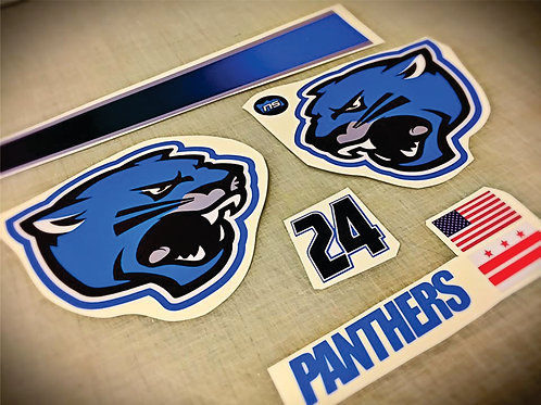 Helmet Decals 6 pc SET