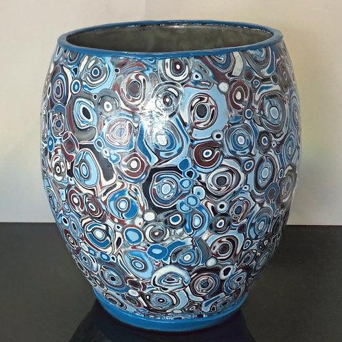 Blue Retro Vase