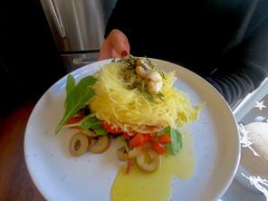 Light Mediterranean Spaghetti Squash Bowls