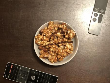 Caramel Peanut Butter Popcorn